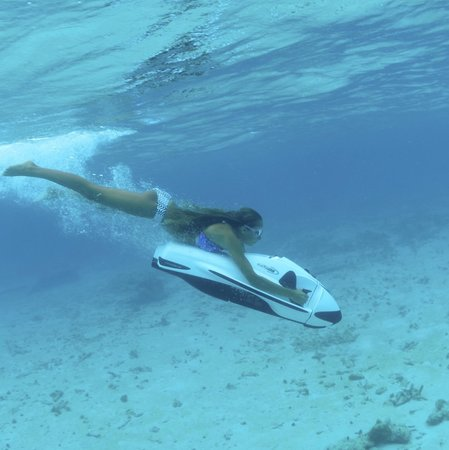 Cayman Private Charters: Hannah dreaming she's a Mermaid.