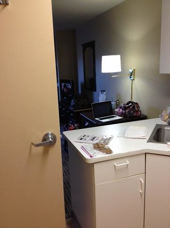 Extended Stay America - Madison - Junction Court: View of room with bathroom door open