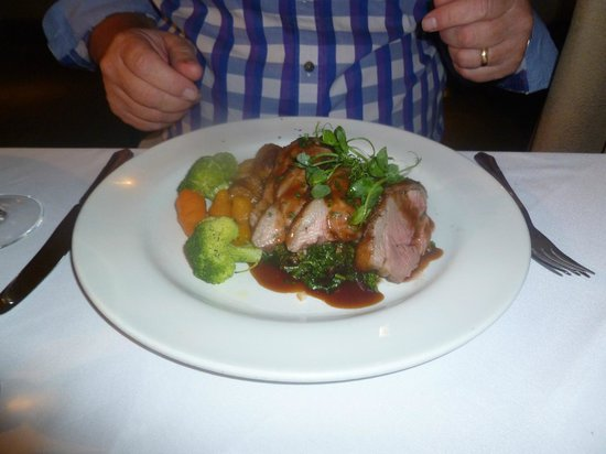 The Timble Inn: Nidderdale lamb rump...perfectly pink!