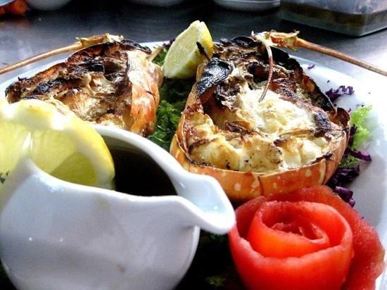 Restaurante a Sardinha: lagosta grelhada
