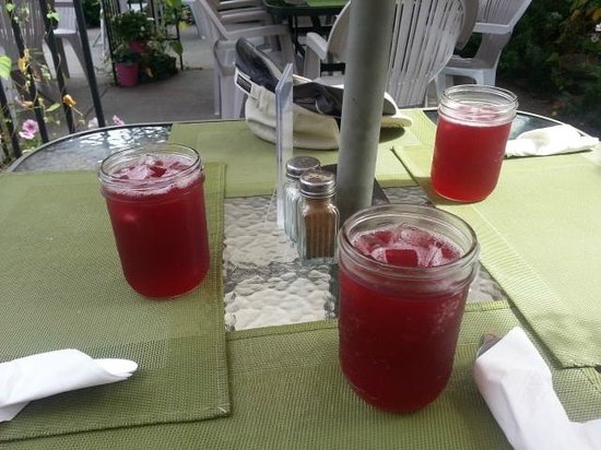 Friesen's Countrytyme Gardens : The raspberry iced tea
