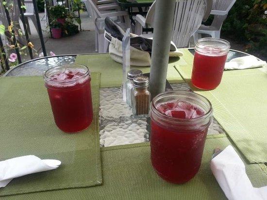Friesen's Countrytyme Gardens: The raspberry iced tea
