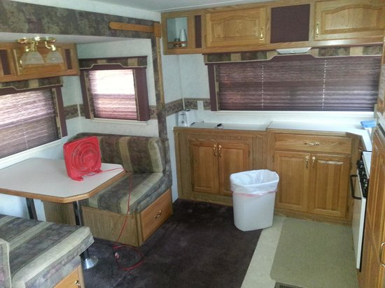 Caboose Lake Campground: RV interior