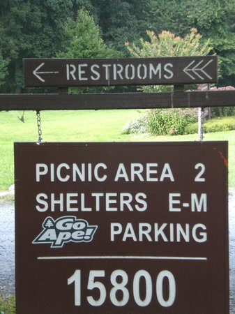 Signage re Rock Creek Regional Park/Lake Needwood