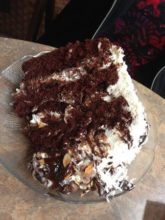 Rosine's Restaurant: Almond Joy cake!
