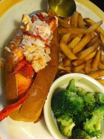 99 Restaurants: Hot buttered lobster roll. Star of the show.