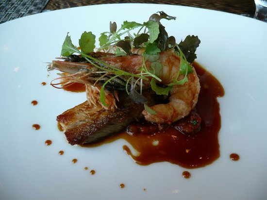 Colicchio & Sons Tap Room: Head On Prawns with Pork Belly