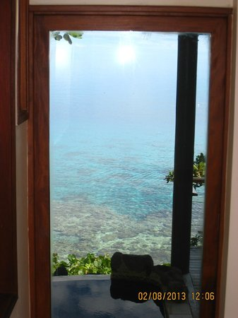 Royal Davui Island Resort, Fiji: view out the front window