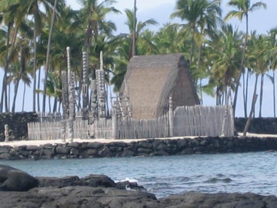 Pu'uhonua O Honaunau National Historical Park: シュノ―ケリングの岩場からみた風景