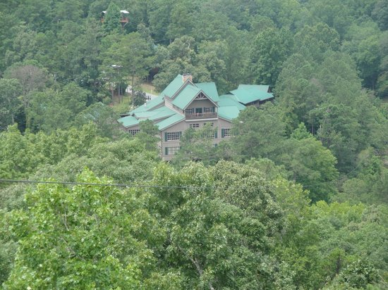 Historic Banning Mills Zip Line Canopy Tours: View of the Lodge from a Zip-line tower.  It is both beautiful and relaxing.