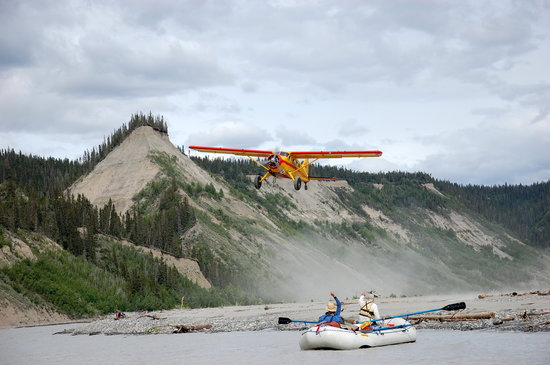 McCarthy, AK: Airplanes and Rafts go together in the Wrangell Mountains