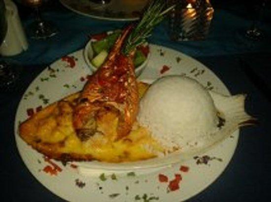 The Blue Lobster: cenita con langosta