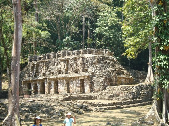Structure at the entrance of Yaxchilan