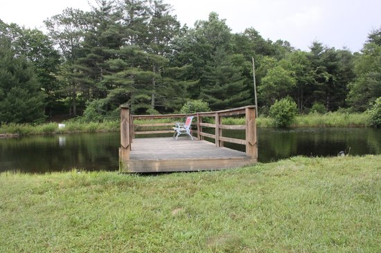 Cabins On Laurel Creek: Dock on the pond