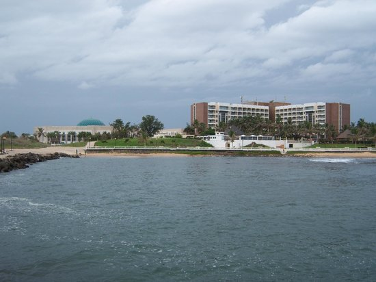 King Fahd Palace: view of hotel from pier