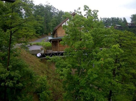 Brother's Cove Log Cabin Rentals: Deja View # 47 - view of cabin next door