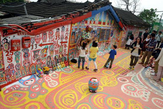 Caihongjuan Village : Rainbow Military Dependents Village, Taichung City
