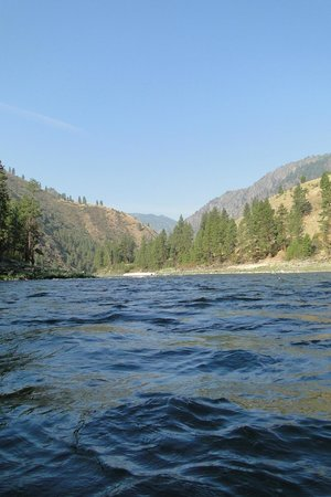 Salmon River Challenge- SRC: Water level view from the raft