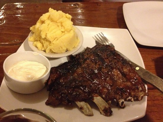 Santino's Grill: Baby back ribs with mashed potato and sour cream (you can ask for extra sour cream)
