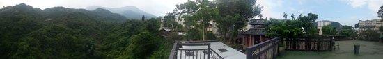Muchun Hotspring Resort : 窗外景觀