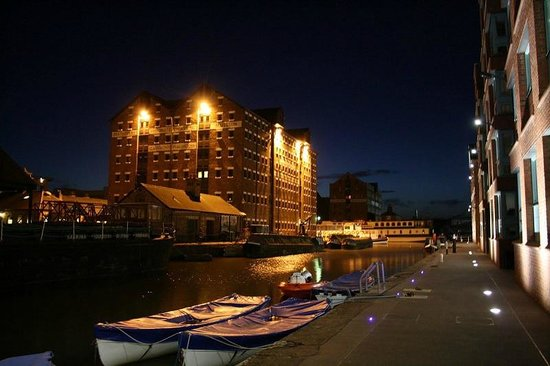 Gloucester Docks At Night Picture Of Gloucester Brewery