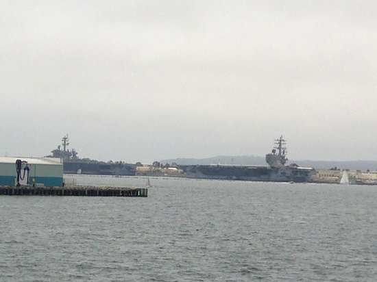 Coronado Bridge: Pacific Fleet Aircraft Carriers...COOL!
