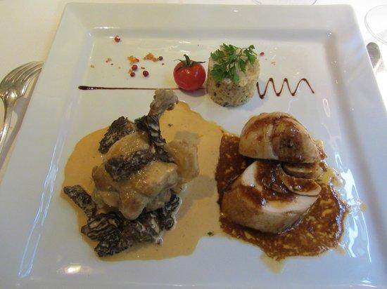 Restaurant Pierre : Volaille de Bresse en 2 préparation. Un régal !