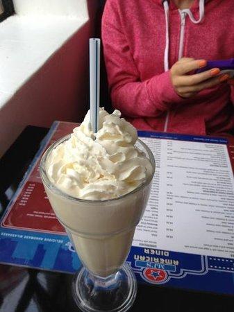 MJs American Diner : vanilla milkshake- thick and gorgeous