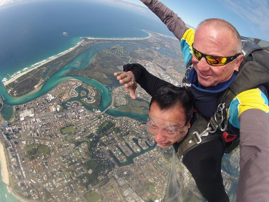 Gold Coast Skydive: That's the biew I was talking about!