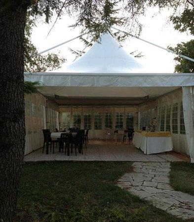 Villa Eugenia: cena in gazebo