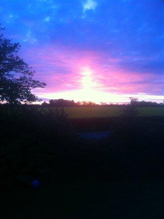 The Farmhouse Bed & Breakfast: sunset
