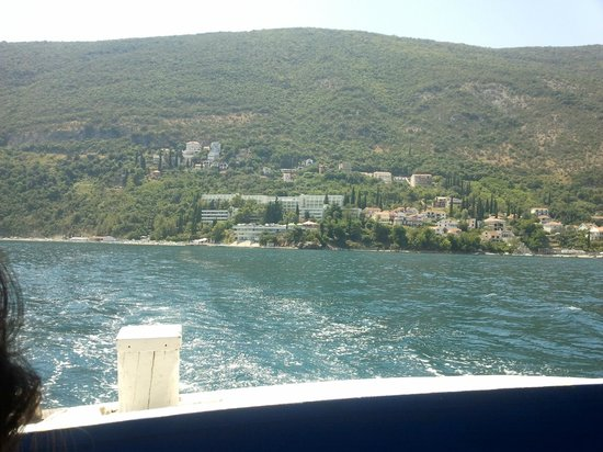 Precise Club Hotel Riviera Montenegro : the hotel from the boat