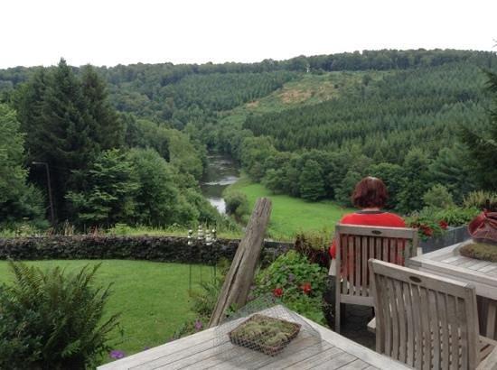 "Hotel Le Point de Vue: View of the semois from hotel ""Point de vue"""