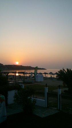 Villa Mediterrane Hotel: the sunrise from our balcony..