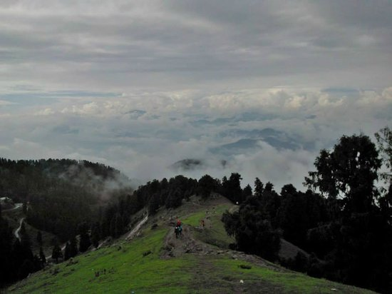 Dainkund Peak: View from resting place along the path
