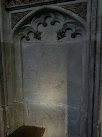 Collegiate Church of St Mary's: If you look carefully you can see the image of an angel