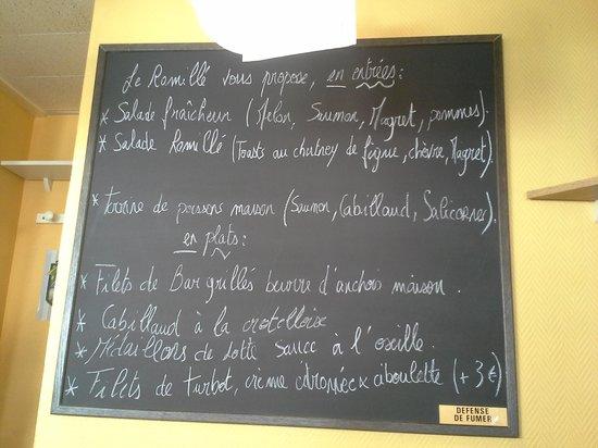 Le Romille: Le tableau des plats