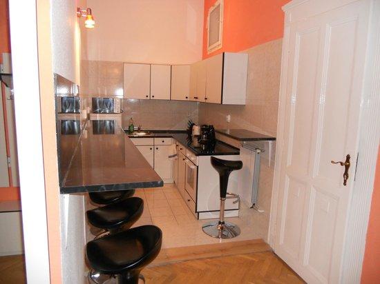Katona Apartments: cucina