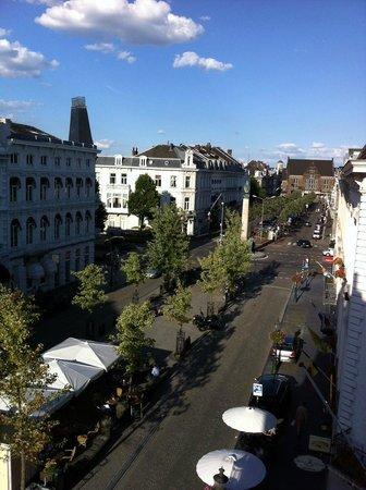 La Bergere Apartments: uitzicht vanuit ons appartement