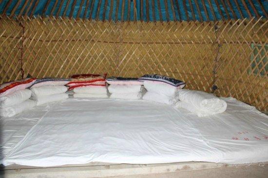 Huitengxile Grassland: Inside the tent