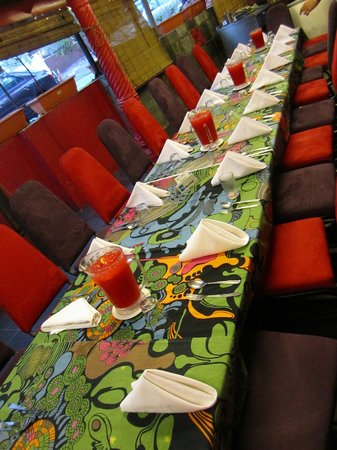 Restoran Rebung Chef Ismail: The dining table for our business group