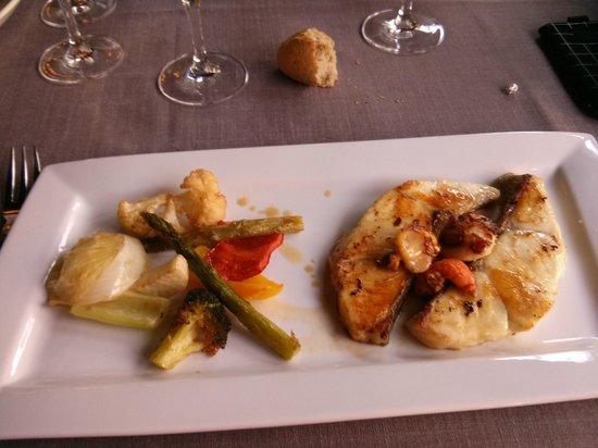 Restaurante Otzarreta: Mero con verduritas a la plancha