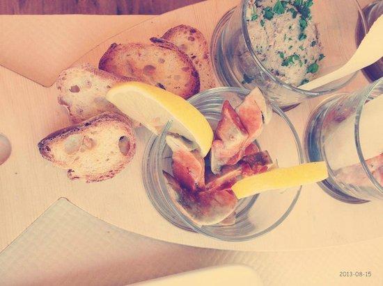 Les Mouettes: foie de lotte et tartare de sardines