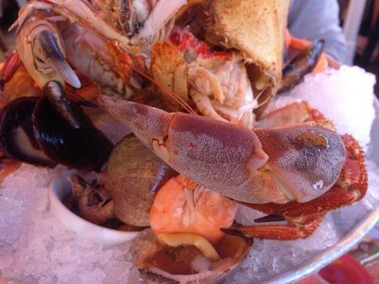la marine: assiette fruits de mer