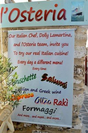 L'Osteria Wine Bar: Mitica Dolly