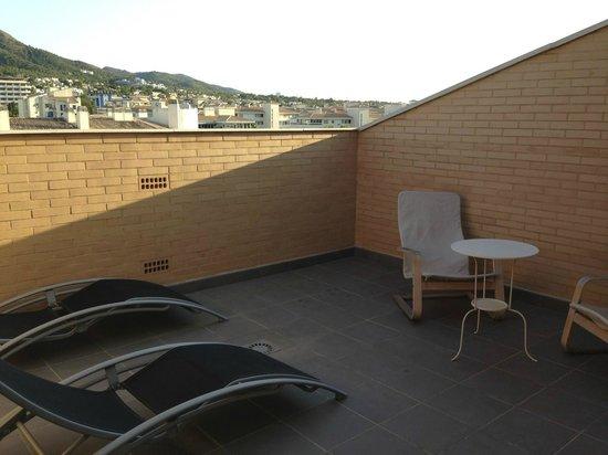 Boulevard Apartamentos Alfaz Playa Albir: Private rooftop 屋上スペース