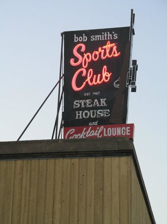 Bob Smiths Sports Clubr and Steak House : The iconic Bob Smith's neon sign...