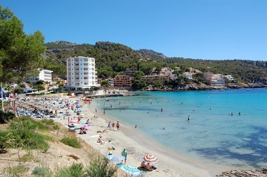 Universal Aparthotel Don Camilo: the beach in Sant Elm