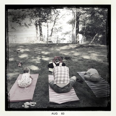 The Lodge on the Cove : Yoga with Erin on Sat morning.