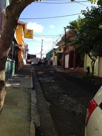 Street in front of Casa 69 (Green door on right) facing Nicaraguan Embassy
